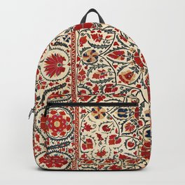 Bokhara Suzani Uzbekistan Colorful Embroidery Print Backpack