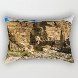 Chaco Canyon New Mexico Archeological Pueblo Site Rectangular Pillow