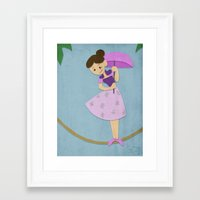 haunted mansion Framed Art Prints featuring Tight Rope - Haunted Mansion by ShelbyDenham