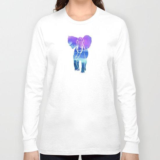 Watercolor Elephant Long Sleeve T-shirt