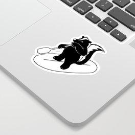 Animal Urbanites: Skunk on Paddle Board Sticker