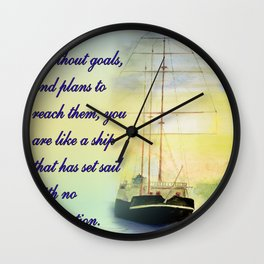 Without goals and plans Wall Clock