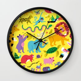 Animal Parade Wall Clock