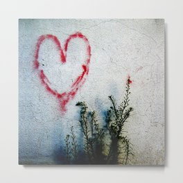 Minimal Flora Love Plant Metal Print