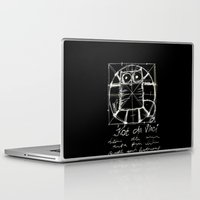 da vinci Laptop & iPad Skins featuring Kot da Vinci (black) by Katja Main