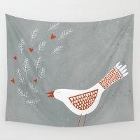la Wall Tapestries featuring La la la by Nic Squirrell