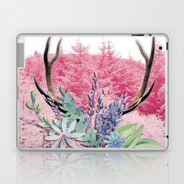 Floral stag antlers Laptop & iPad Skin