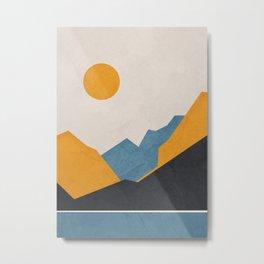 Line Mountain Beauty III Metal Print