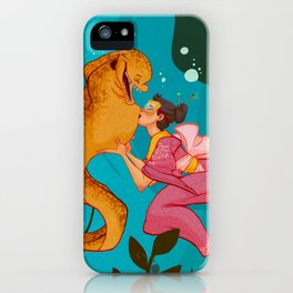 A girl and her eel iPhone Case