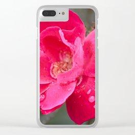 Raindrop Rose Clear iPhone Case