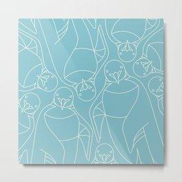 Minimalist Emperor Penguin Metal Print