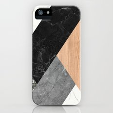 Marble and Wood Abstract iPhone SE Slim Case