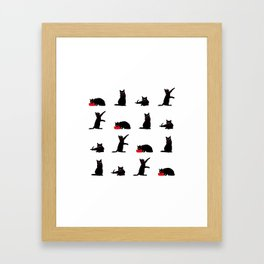 Cats-Large-Black&White Framed Art Print