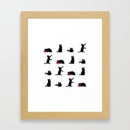 Cats-Large-Black&White Framed Art Print