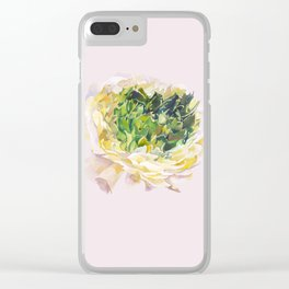 Soft pastel flower Clear iPhone Case