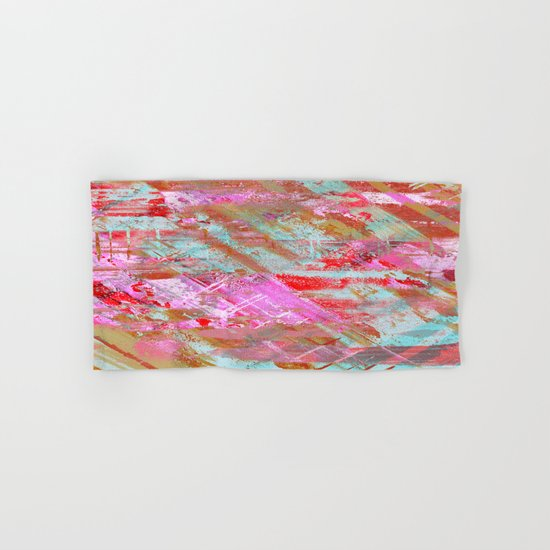 Confidence - Abstract, textured oil painting Hand & Bath Towel