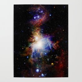 Orion NebulA Colorful Full Image Poster