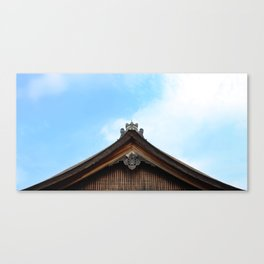 Traditional Japanese Rooftop Architecture Canvas Print