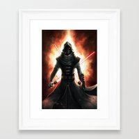 dark side Framed Art Prints featuring Dark side by Michele Frigo
