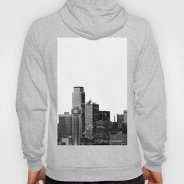 Dallas Texas Skyline in Black and White Hoody