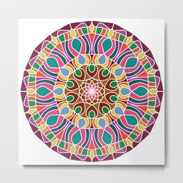 Multicolored fractal mandala Metal Print