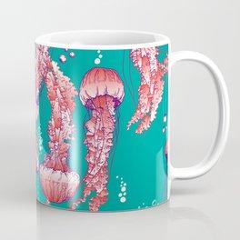 Red jellyfish pattern Coffee Mug