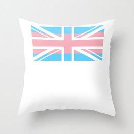 Gay Pride LGBT Transgender UK Union Flag Stripe design Throw Pillow