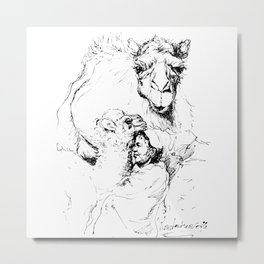With camels Metal Print