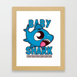 Baby Shark Doo Doo Doo Kids Framed Art Print