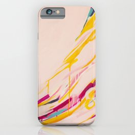 Miss Marmalade Rose - Abstract painting by Jen Sievers iPhone Case