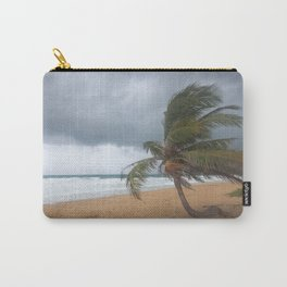 Windswept Palm tree Carry-All Pouch