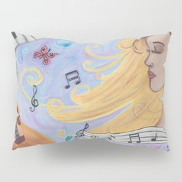 She Dreams in Music Pillow Sham