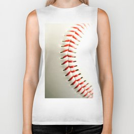 Base Ball Close Up Biker Tank