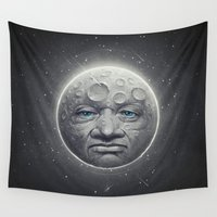 dave grohl Wall Tapestries featuring The Moon by Dr. Lukas Brezak