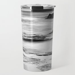 """""""Vela Blanca Tower"""". Bw Travel Mug"""