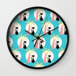 va-CAT-ions_Pattern Wall Clock