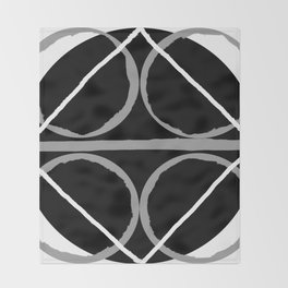 Geometric Unity Centered in a Circle Throw Blanket