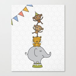 Circus animals Canvas Print