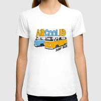 vw bus T-shirts featuring VW Camper Van Surf Bus by VelocityGallery