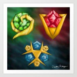 Spiritual Stones Art Print