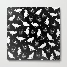Skull Kats Metal Print