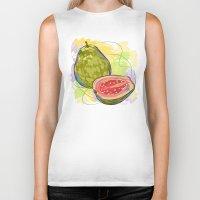 vietnam Biker Tanks featuring Vietnam Guava by Vietnam T-shirt Project