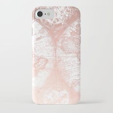 Rose Gold Pink Antique World Map by Nature Magick Slim Case iPhone 7