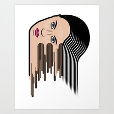 Flows girl Art Print