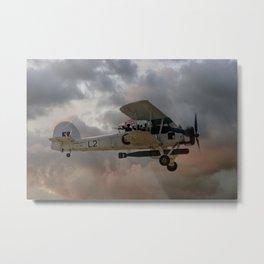 Stringbag Salute - (Swordfish Torpedo Bomber) Metal Print