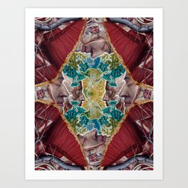 Beyond the Veil of Flesh Art Print