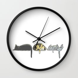 Domaine Coquelicots - Trois petits chats Wall Clock