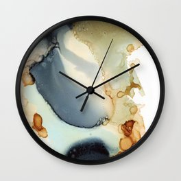 Abstract in amber and grey Wall Clock