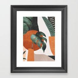 Abstract Art / Plants Framed Art Print
