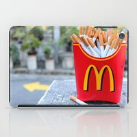 fries iPad Cases featuring Smoked Fries by Stephanie Nakagawa